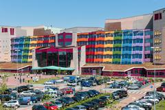 People visiting the new modern Isala Hospital in Zwolle, The Netherlands Kuvituskuvat
