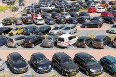 Aerial view car park Isala Hospital in Zwolle, The Netherlands Kuvituskuvat