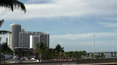 Condo Towers at the Miami Omni District from Bayside marketplace. Stock Footage