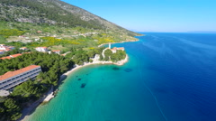 View of Bol on the island of brac, Croatia. Stock Footage