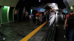 Passengers at the Subway Station. Rio de Janeiro, Brazil. Cardeal Arcoverde - stock footage
