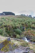 Nant-y-Gro Dam, blown up during war for testing of dambusters bouncing bomb. Stock Photos