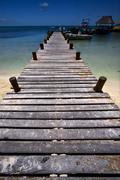 harbor in isla contoy - stock photo