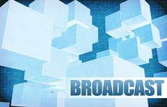 Stock Illustration of Broadcast on Futuristic Abstract