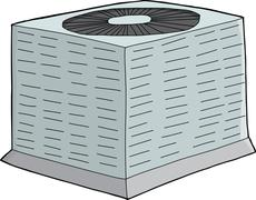 Air Conditioning Unit Stock Illustration
