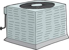 Isolated Metal AC Unit Stock Illustration