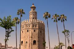 Tower gold (Torre de Oro) Stock Photos