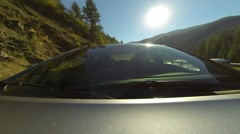 Timelapse of car driving seen from front in daytime Stock Footage