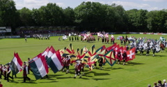 Historical Guilds Netherlands Parade 4K Stock Footage