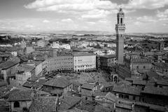Campo Square in Siena, Italy - stock photo