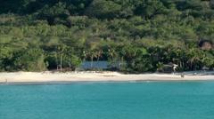 Antigua Caribbean Sea 207 dreamlike beach resort seen from water Stock Footage