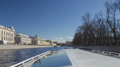 Saint Petersburg rivers day boat trip motion timelapse 4K Stock Footage