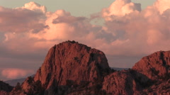 Granite Rock Formations at Sunset Stock Footage