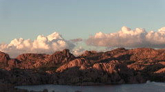 Watson Lake Prescott Arizona Sunset Stock Footage