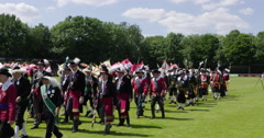 Traditional Guilds Netherlands parading Stock Footage