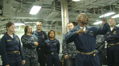 Medical Team on US Navy Vessel Prepare for Earthquake Injured Stock Footage