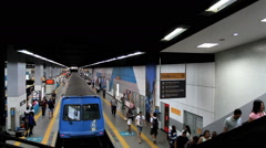 Passangers at the Subway Station. Rio de Janeiro, Brazil - stock footage
