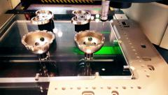 High End Precision Robotic Measuring Machine 4K Stock Footage