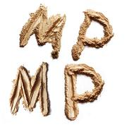 mineral powder letters - stock photo