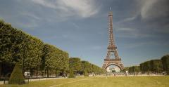 The Tour Eiffel in Paris Stock Footage