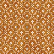 Orange and White Celtic Cross Symbol Tile Pattern Repeat Background Stock Illustration