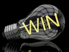 Win - stock illustration