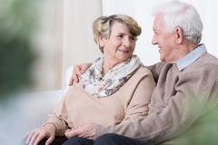 Relationship in old age - stock photo