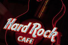 Guitar at entrance.Hard Rock Cafe Niagara Falls - stock photo