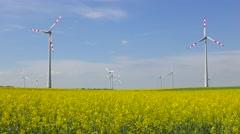 4K footage of wind turbines - stock footage