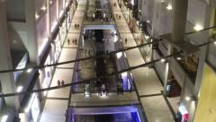 High Angle Timelapse of Shoppers in Mall, Shoppes at Marina Bay Sands Singapore Stock Footage