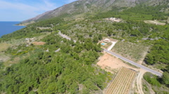 Aerial view of beautiful Bol on island of brac, Croatia. Stock Footage