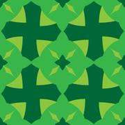 Abstract seamless pattern green color - stock illustration