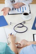 Clinical meeting in a hospital - stock photo