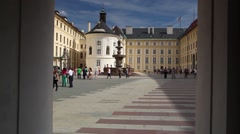 The Second Courtyard of Prague Castle. - stock footage