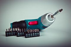 Electric screwdriver Stock Photos