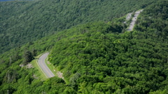 View of Skyline Drive from Little Stony Man Mountain in Shenandoah National Park - stock footage