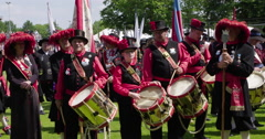 Netherlands traditional guild drumming 4K Stock Footage