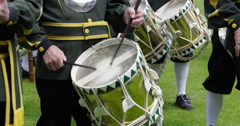 Netherlands historical guild drumming close 4K Stock Footage