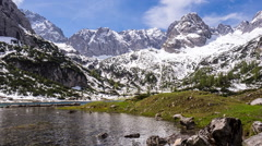 Stock Video Footage of timelapse of clouds at the Seebensee