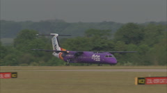 Flybe Dash 8 takeoff - G-JECY 1920x1080 Stock Footage