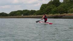 Kneel canoe Stock Footage