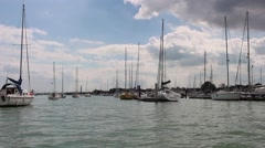 Yachts on the River Stock Footage