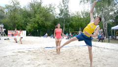 Russian beach tennis championship 2015 Stock Footage