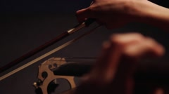 Playing a violoncello, close up Stock Footage