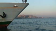 Ferry ship on the Bosphorus. Istanbul Stock Footage