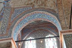 Intricate mosaics of  Blue Mosque - stock photo