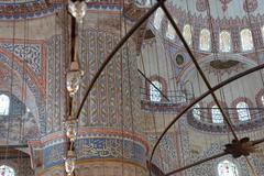 Intricate mosaics of  Blue Mosque Stock Photos