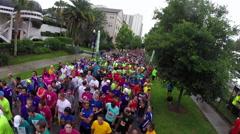 IOA Corporate 5K Run in Downtown Orlando Florida Stock Footage