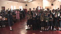 Schook Kids Singing in Kitwe, Zambia Stock Footage