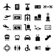 Airport Icon - stock illustration